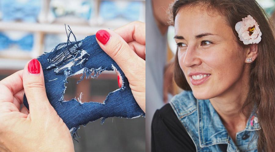 Džinsus perdirbanti Milda:pigūs drabužiai yra tik iliuzija