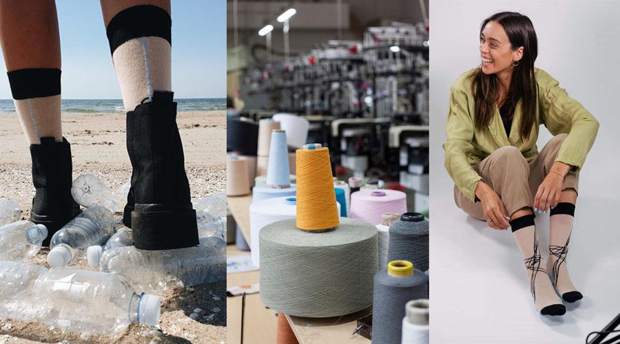 Jie tai padarė pirmieji: šalyje pradėjo gaminti kojines iš perdirbto plastiko